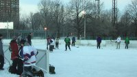 Patinoire Parc Lafontaine Montreal Hockey