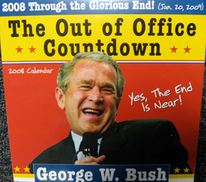 2008 George W. Bush Out of Office Countdown boxed calendar